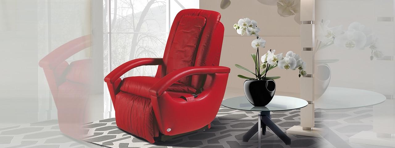 Poltrona Relax colore Rossa modello Gioia - Vista 1