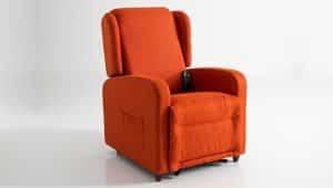 Poltrona Relax colore arancione modello ambra - Vista 3
