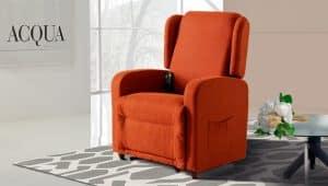 Poltrona Relax colore arancione modello ambra - Vista 4