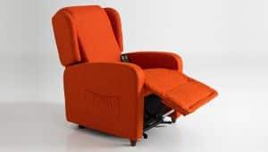 Poltrona Relax colore arancione modello ambra - Vista 2